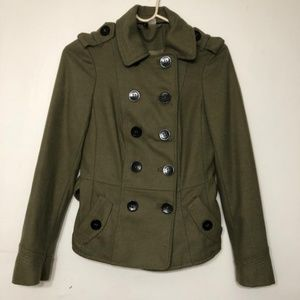 Women h&m olive green winter jacket